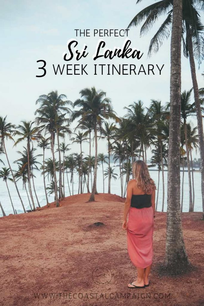 Sri Lanka 3 Week Itinerary | A complete travel guide covering everything you need to know before you travel, 3 week route with map, budget and more!