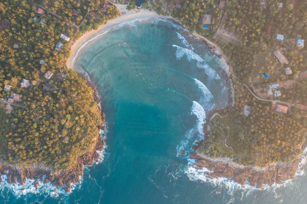 Hiriketiya Beach aerial photo
