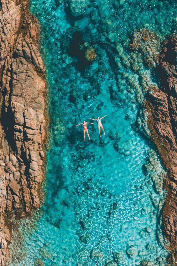 Floating in Aquarium Rock Pool in Yallingup Western Australia