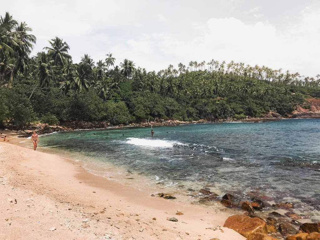 Main Beach at Secret Beach in Mirissa