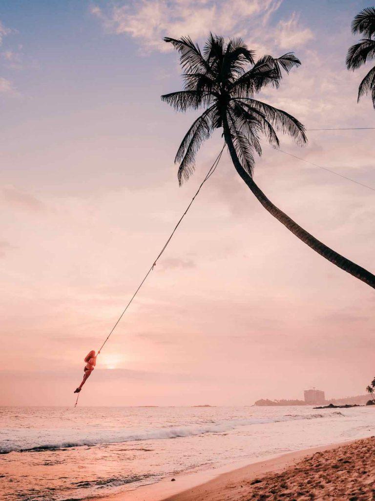 Dalawella Palm Tree Rope Swing in Unawatuna