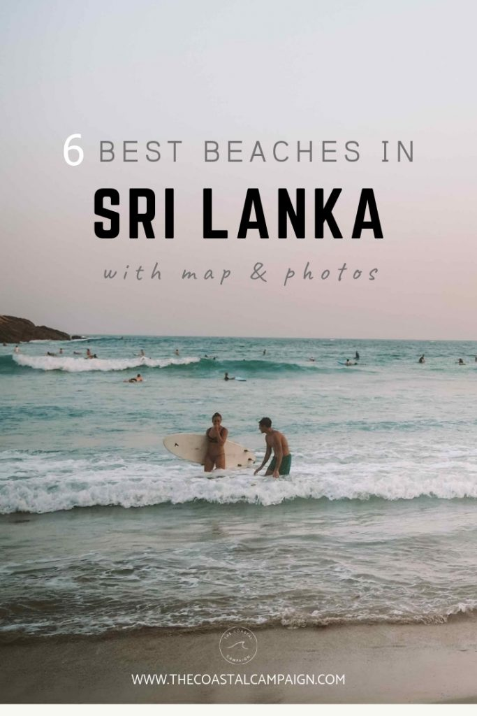 6 Best Beaches in Sri Lanka (with maps and photos)