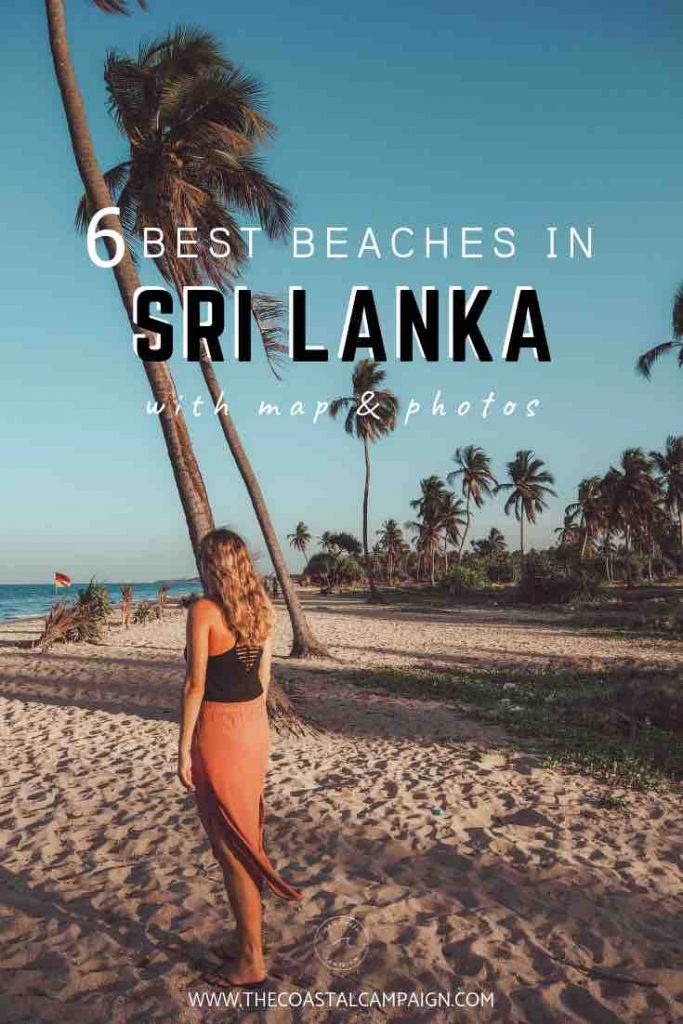 6 Best Beaches in Sri Lanka with maps and photos