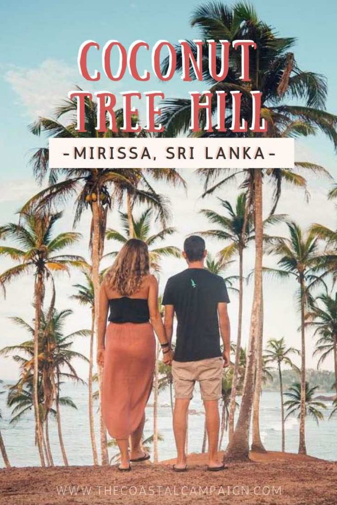 COCONUT TREE HILL MIRISSA | This palm tree grove in Mirissa, Sri Lanka is the ultimate spot to enjoy both sunrise and sunset. Find out why it was our favourite place in Mirissa!