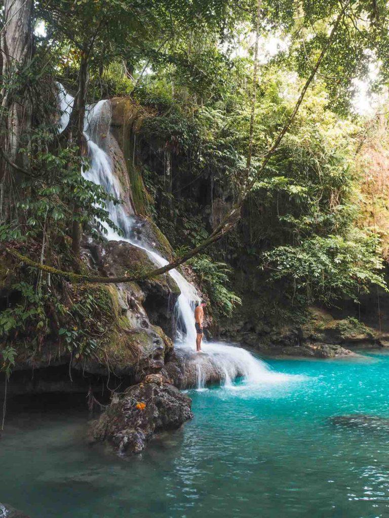 Upper waterfall at Cambais Falls