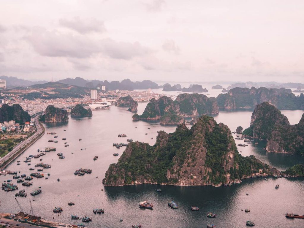 View of Halong City from above