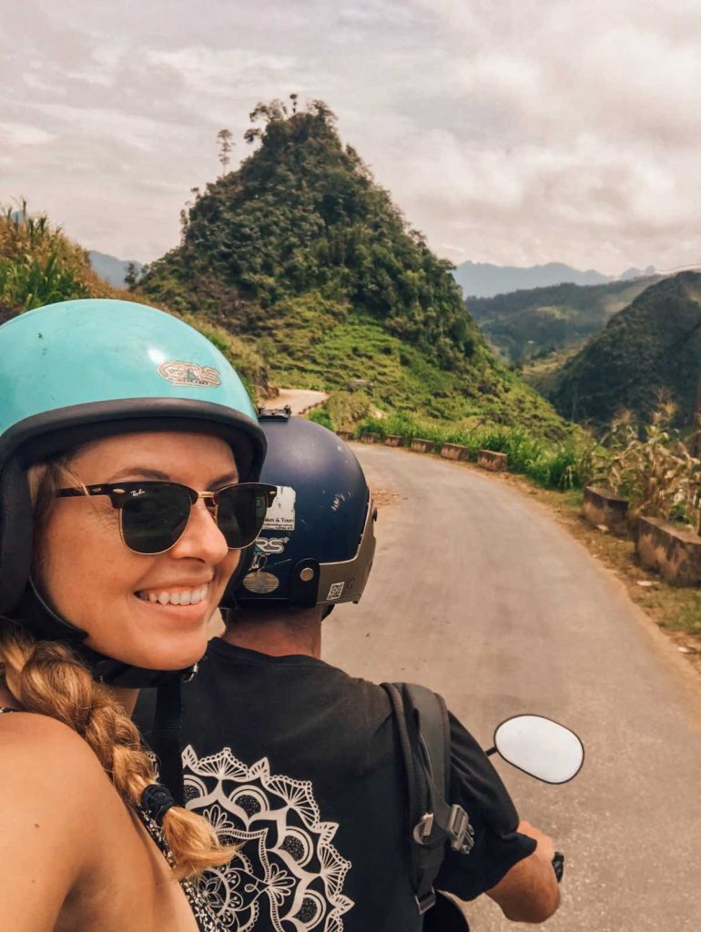 Riding a motorbike along the Ha Giang Tour