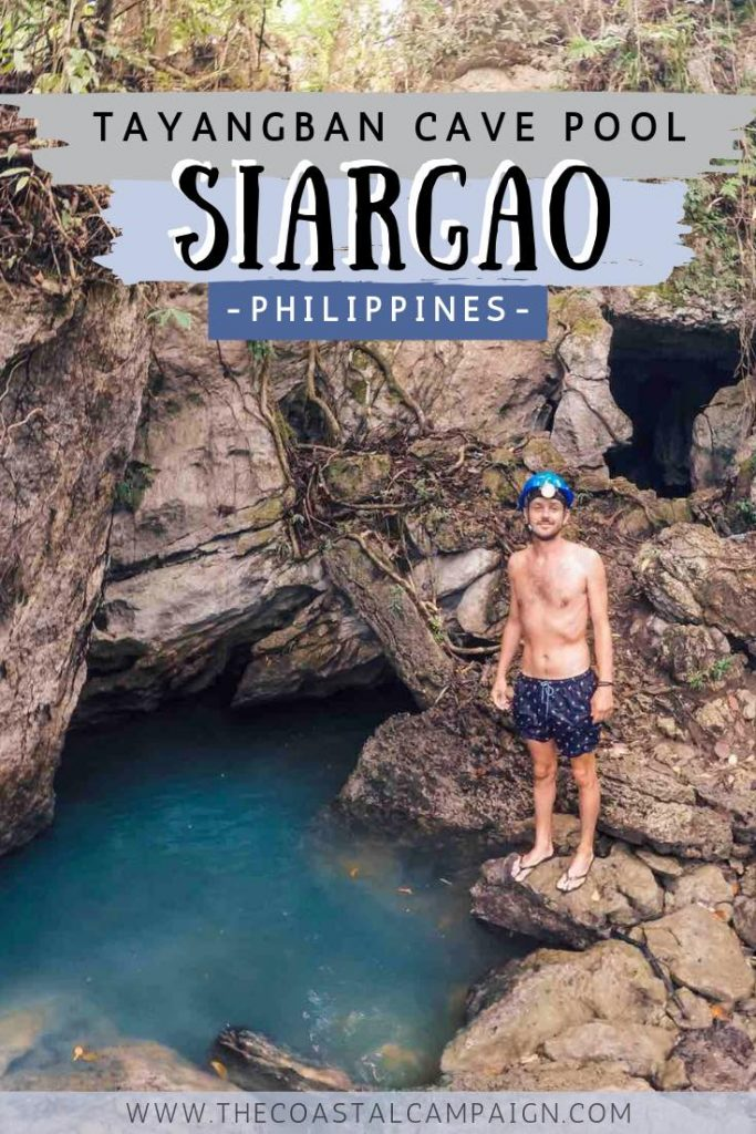 TAYANGBAN CAVE POOL | Siargao Island, Philippines | Tayangban Cave Pool is one of the hidden gems of Siargao Island. Climb and swim your way through this epic network of caves!
