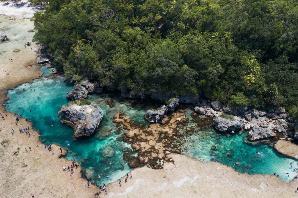 Magpupungko Pool on Siargao Island