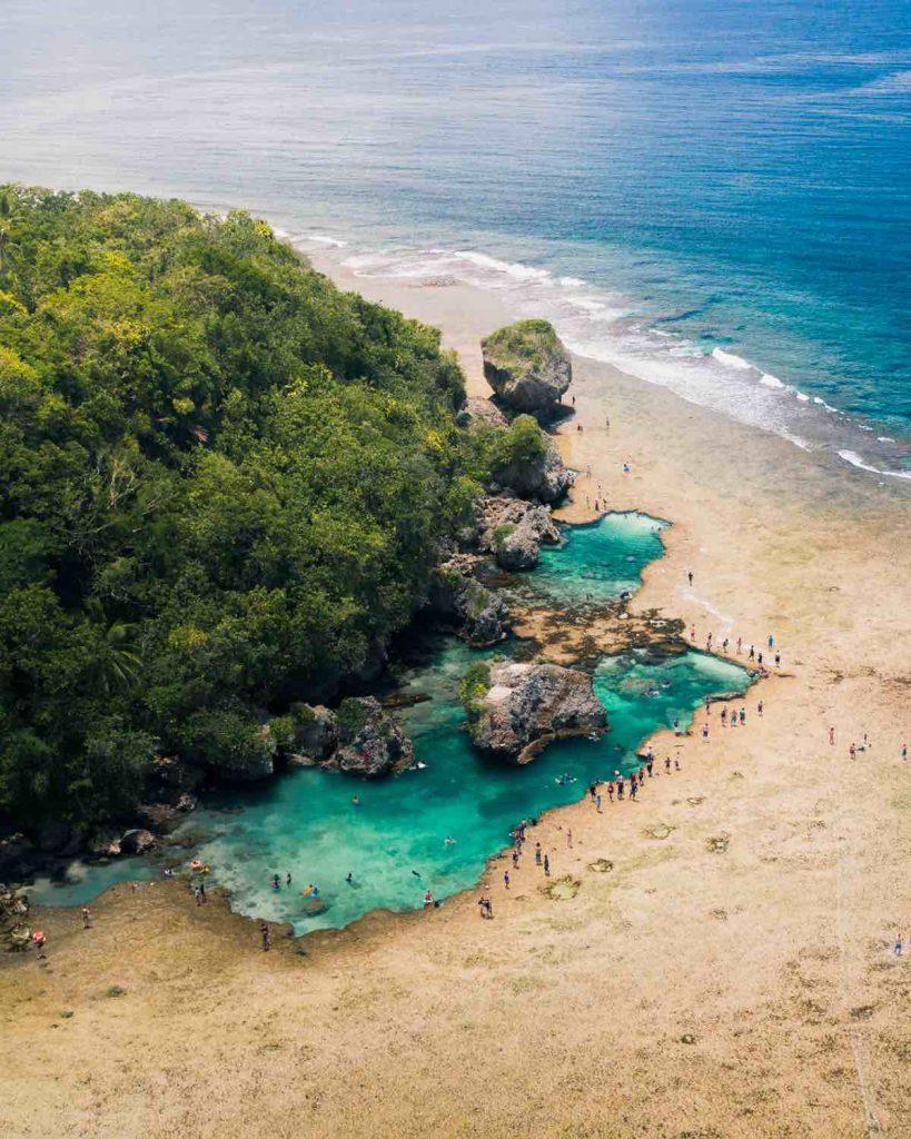 Magpupungko Rock Pools on Siargao Island