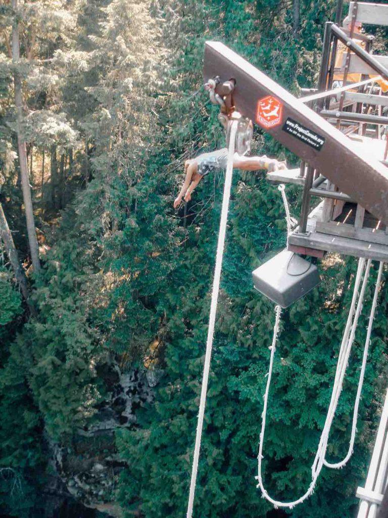 Bungee jump at Wild Play nanaimo