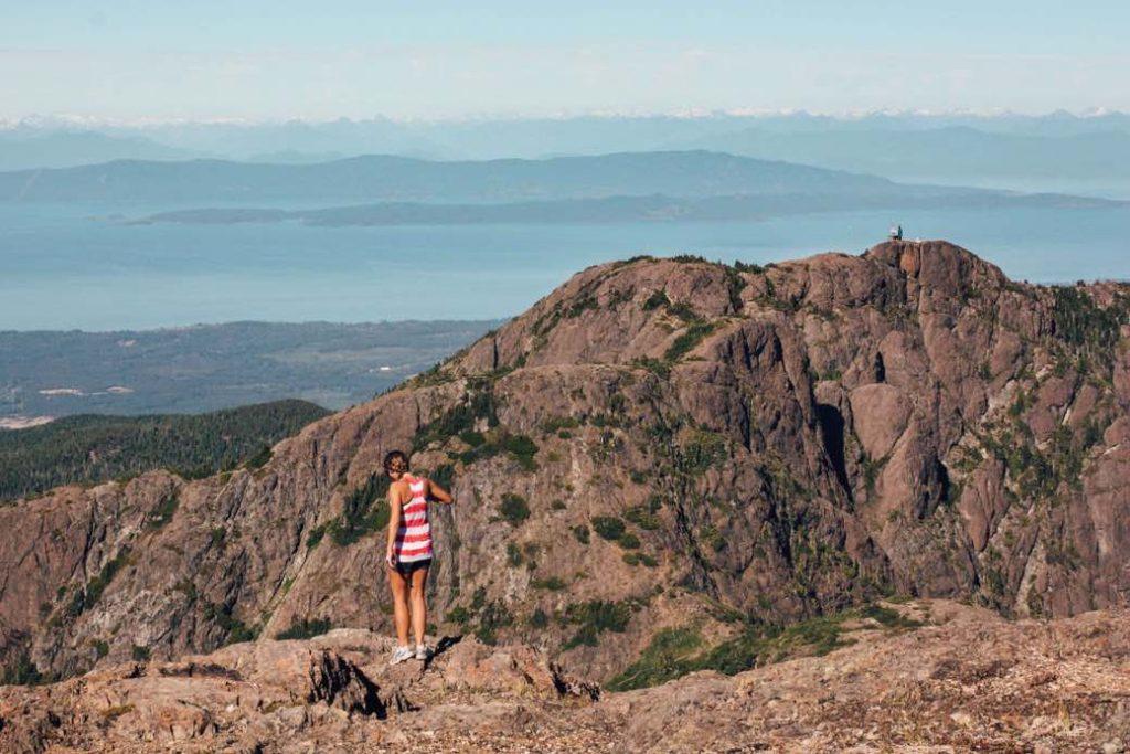 The summit of Mount Arrowsmith