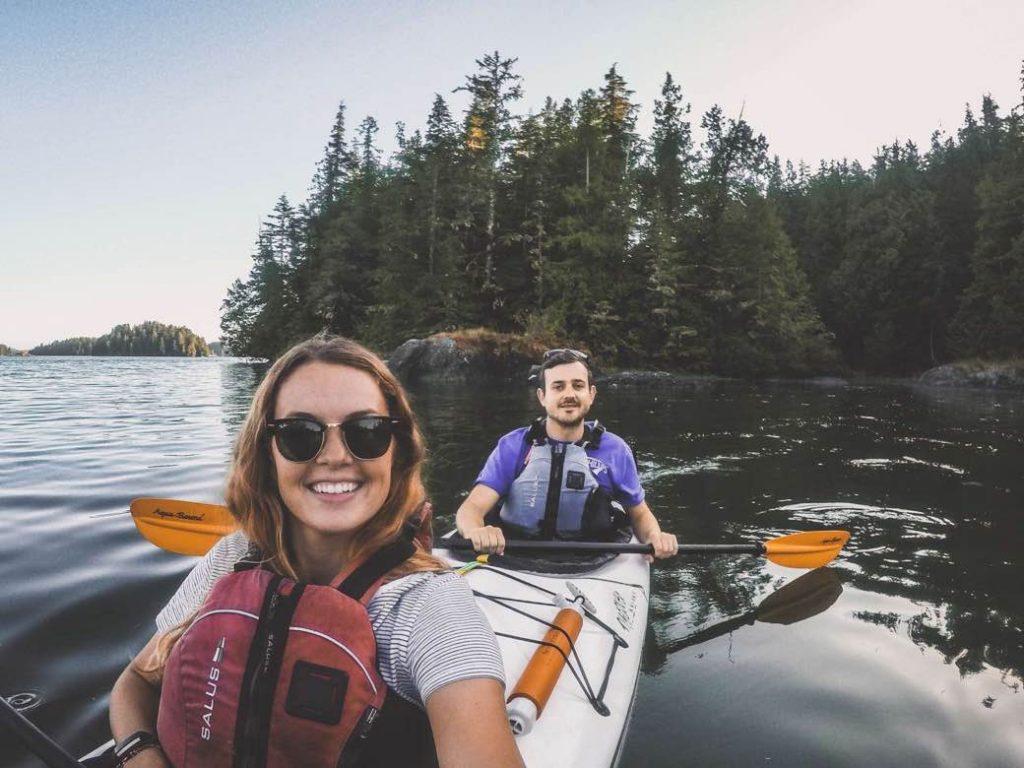 Kayaking around Tofino waterways