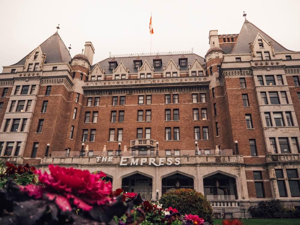 The Fairmont Empress hotel in Victoria's inner harbour