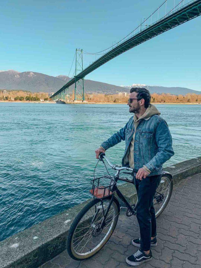 The Lions Gate Bridge while Biking Stanley Park