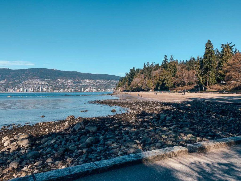 Third Beach on the Stanley Park bike trails