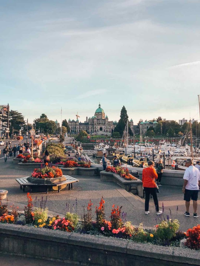 The Parliament Building in Victoria's inner harbour