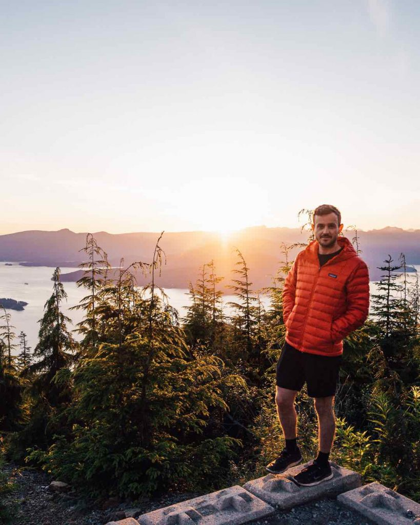 howe Sound at sunset from Cypress Mountain