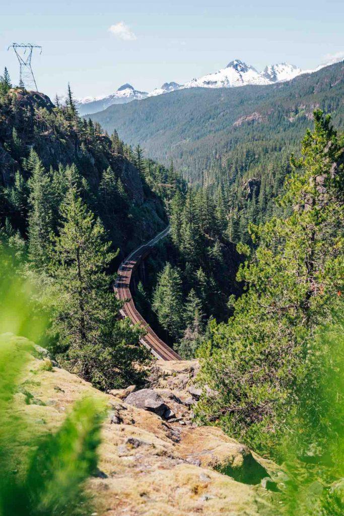Railway at the Cheakamus Canyon Trail