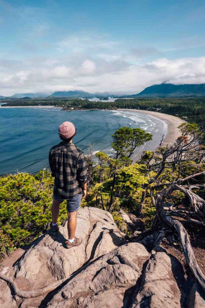 Viewpoint from the Cox Bay Trail in Tofino