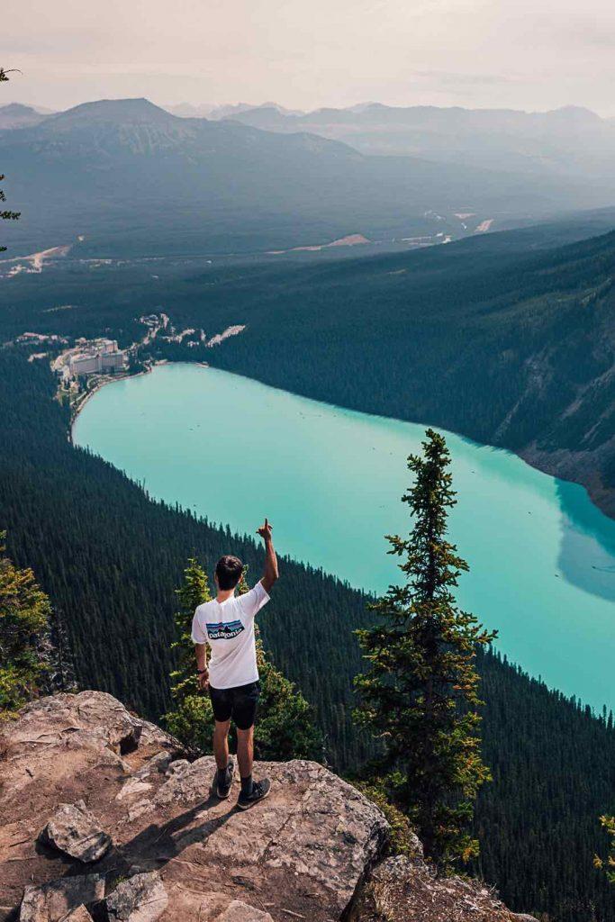 Viewpoint at the Big Beehive at Lake Louise, Banff National Park
