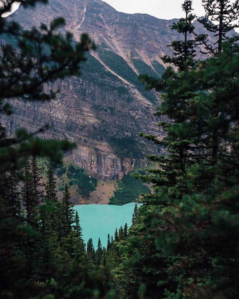 Lake Louise seen from above