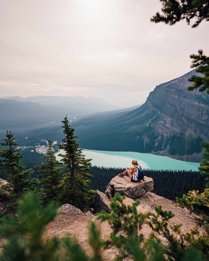 Viewpoint from the Little Beehive hike over Lake Louise