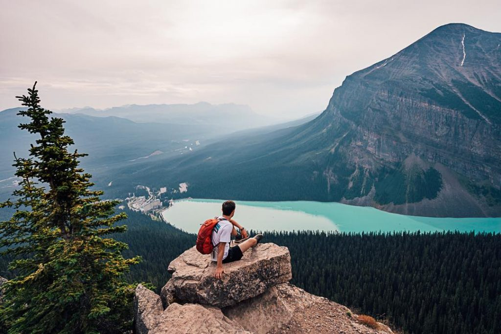 Little Beehive at lake Louise