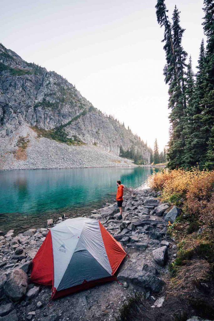 Camping at Rohr Lake
